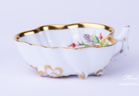 Herend porcelain Sugar Bowl painted with Christmas motif