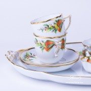 Herend porcelain Coffee Set painted with Christmas motif