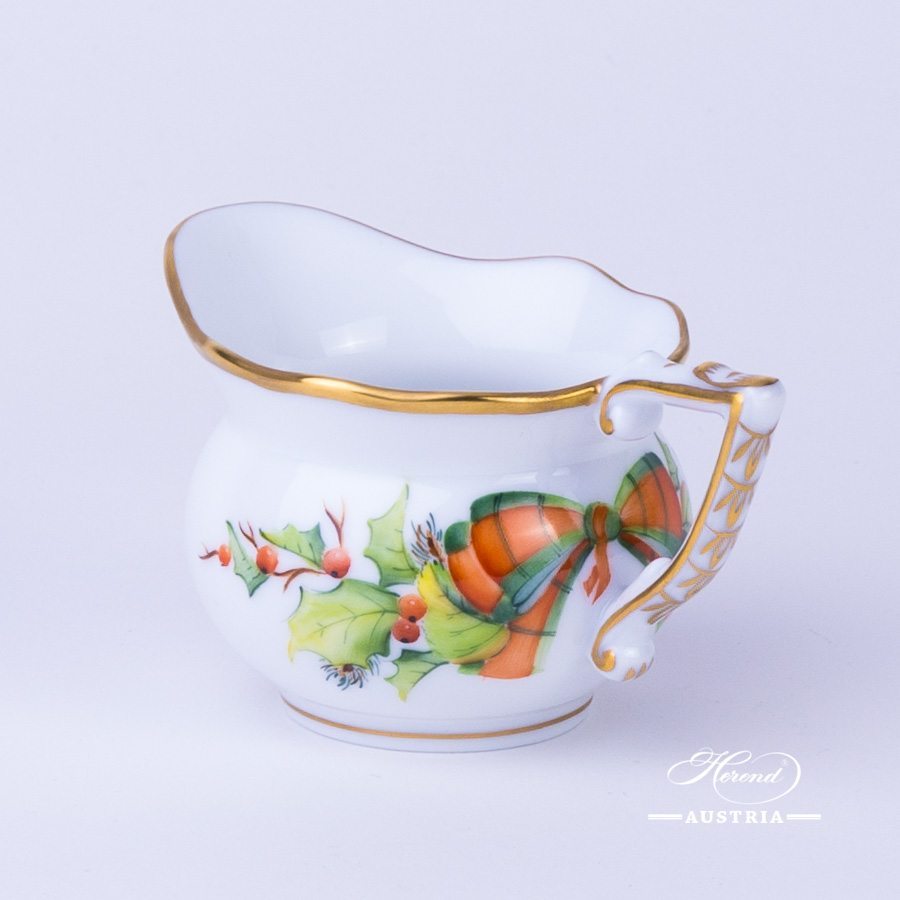 Herend porcelain Creamer painted with Christmas motif