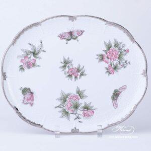 Victoria Platinum Cake Plate - 417-0-00 VBOG-X1-PT - Herend Porcelain