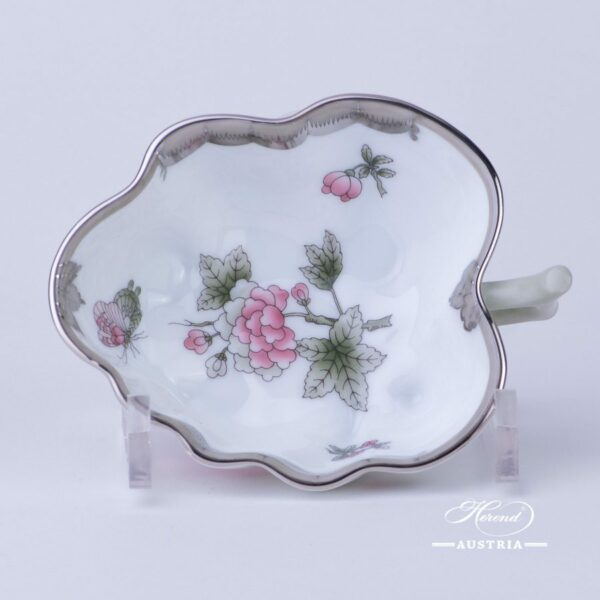 Sugar Bowl / Candy Jar 492-0-00 VBOG-X1-PT Queen Victoria Platinum pattern. Herend fine china hand painted. Tableware