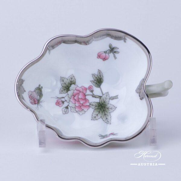 Sugar Bowl / Candy Jar 492-0-00 VBOG-X1-PT Queen Victoria Platinum pattern. Herend fine chinahand painted. Tableware