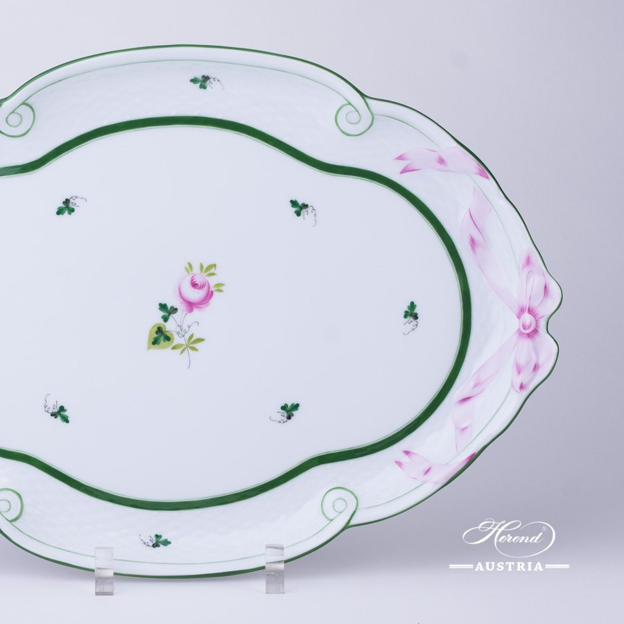 Vienna Rose-VRH Tray with Ribbon - 400-0-00 VRH - Herend Porcelain