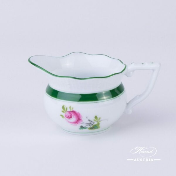 Creamer / Milk Jug 645-0-00 Vienna Rose / Viennese Rose VRH pattern. Herend fine china. Hand painted tableware