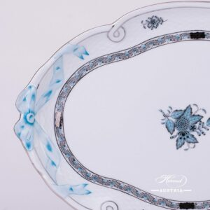 Apponyi-Turquoise Ribbon Tray - 400-0-00 ATQ3-PT - Herend Porcelain