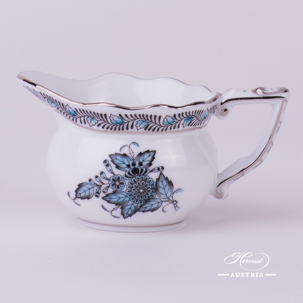 Apponyi-Turquoise Creamer - 645-0-00 ATQ3-PT - Herend Porcelain