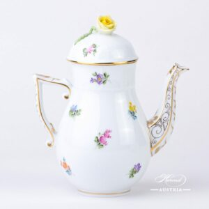Thousand Flowers Coffee Pot - 614-0-09 MF - Herend Porcelain