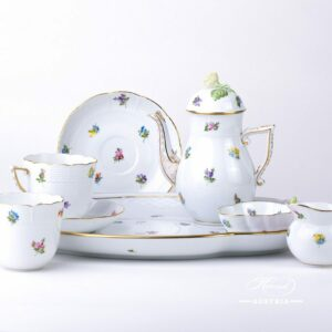 Thousand Flowers-MF Coffee Set for 2 Persons - Herend Porcelain