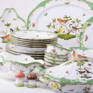 Rothschild Bird Green Fish Scale - Dinner Set