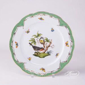 Rothschild Bird Green Fish Scale - Dinner Plate