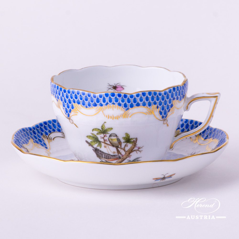 Rothschild Bird Blue Fish Scale - Tea Cup