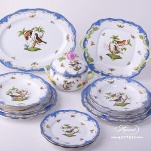 Herend Rothschild blue RO-ETB dinner set-11