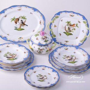 Rothschild Bird Blue Fish Scale - Dinner Set
