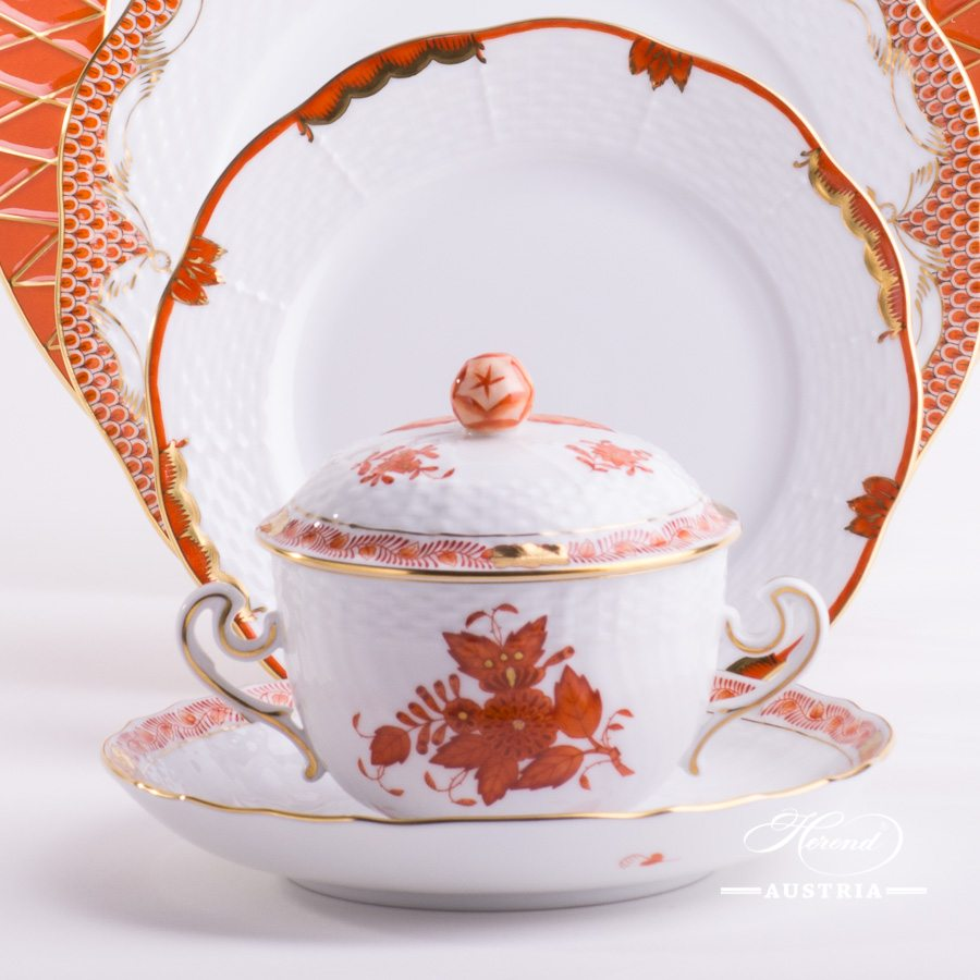 Orange Mixed - Place Settings with Soup Cup - 5 Piece