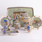 Coffee / Espresso Set for 2 Persons - Herend Medieval Miniatures HHVTpattern. Herend fine chinahand painted. Tableware