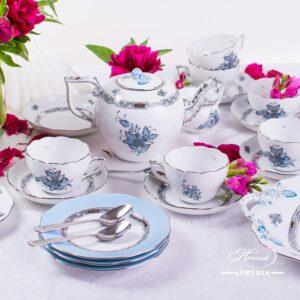 Chinese Bouquet Turquoise / Apponyi ATQ3-PT - Tea Set