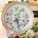 Ornamental Plate 7499-0-00 SP840 Special Phoenix pattern. Herend fine china and hand painted. Round shaped Ornaments