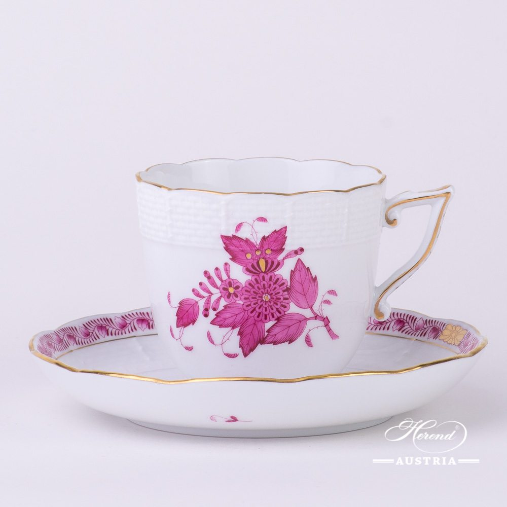 Apponyi pink coffee cup with saucer