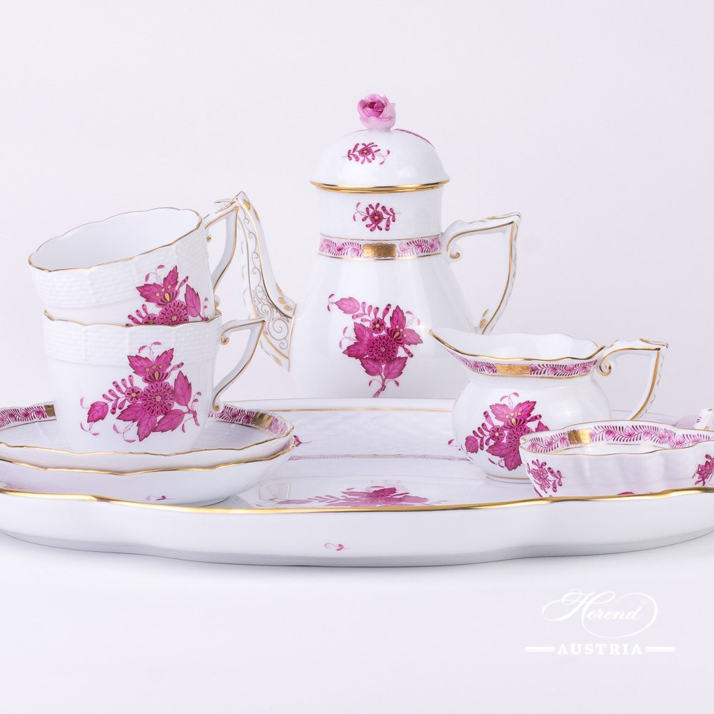 Apponyi Pink Coffee Set