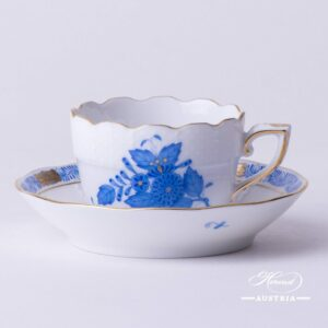 Apponyi Espresso cup with saucer - Blue