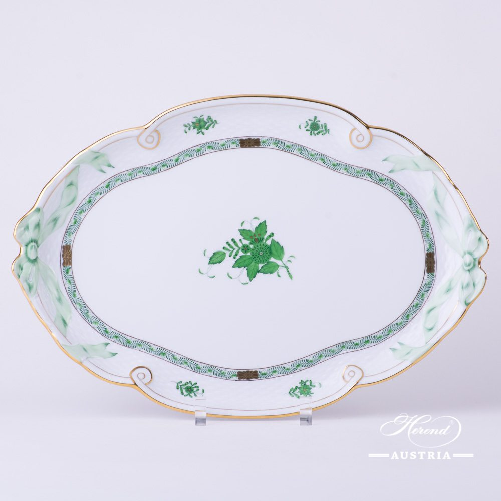 Apponyi Green Ribbon Tray