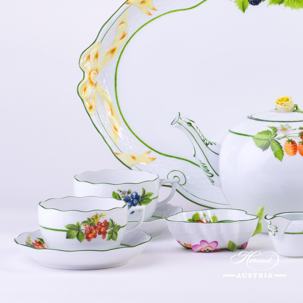Berried Fruits Tea set - BAC - Herend porcelain