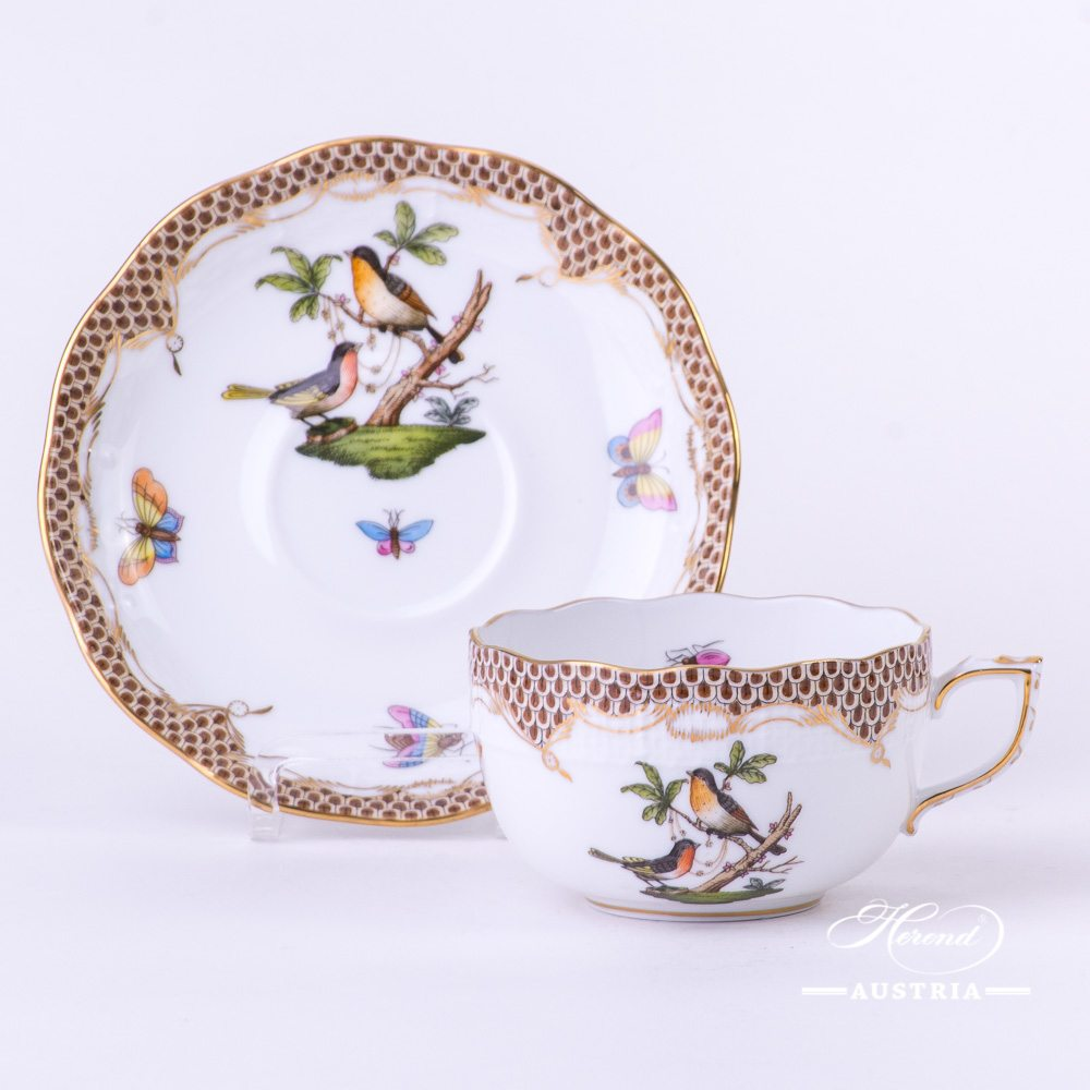 Rothschild Bird Brown Fish Scale - Tea Cup
