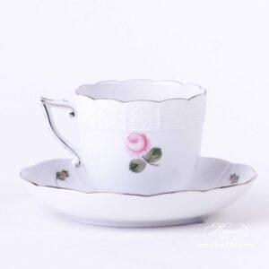 Vienna Rose Platinum - Coffee Cup