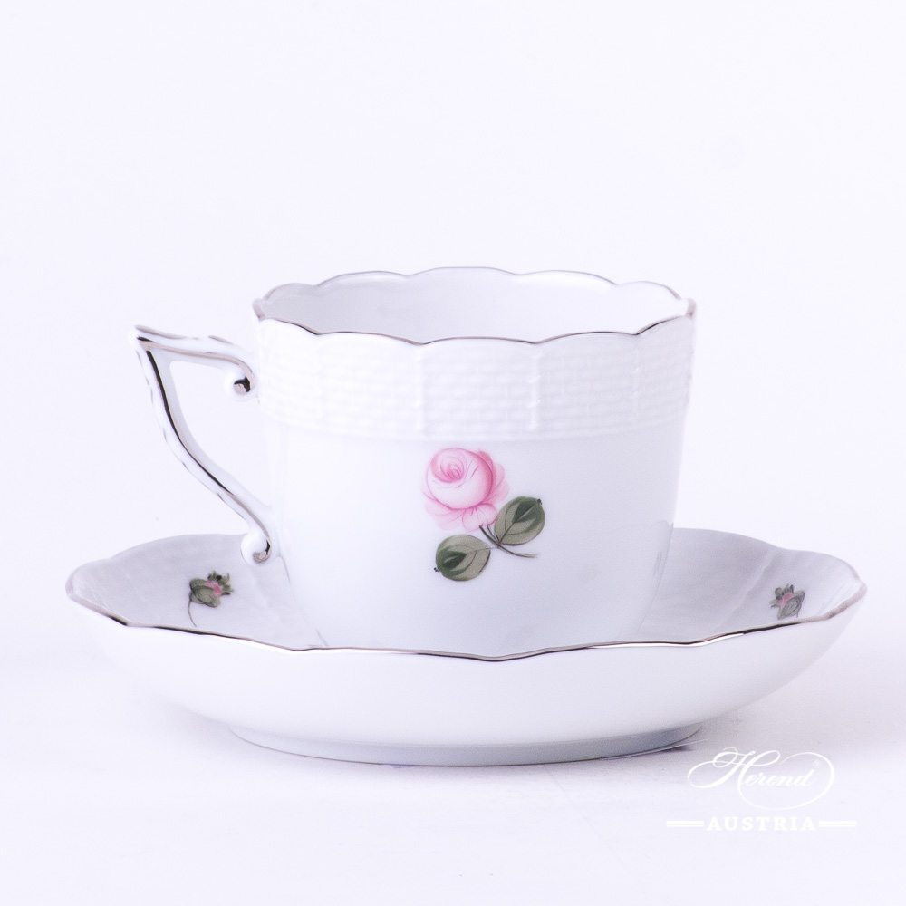 Vienna Rose Platinum - Coffee Cup