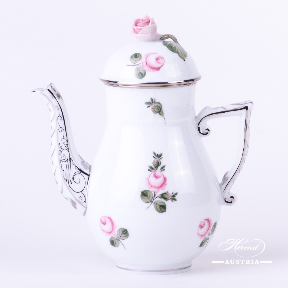Vienna Rose Platinum Coffee pot