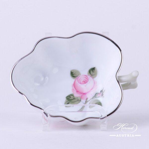Sugar Bowl492-0-00 VGRS-PT Vienna Rose Grand w. Platinum pattern. Herend fine china. Hand painted tableware