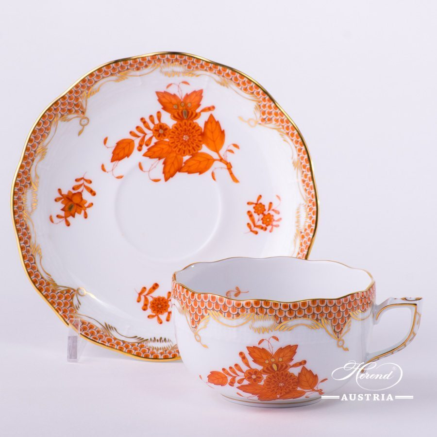 Apponyi Orange Fish Scale Tea Cup - 724-0-00 AOG-ETH