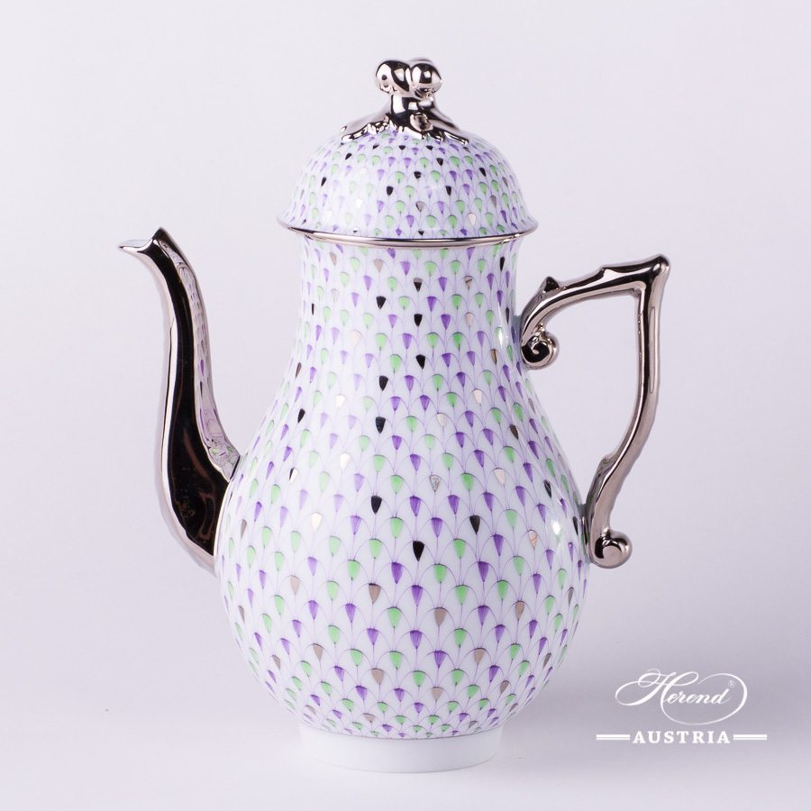 Special Fish Scale - Coffee Pot w. Twisted Knob