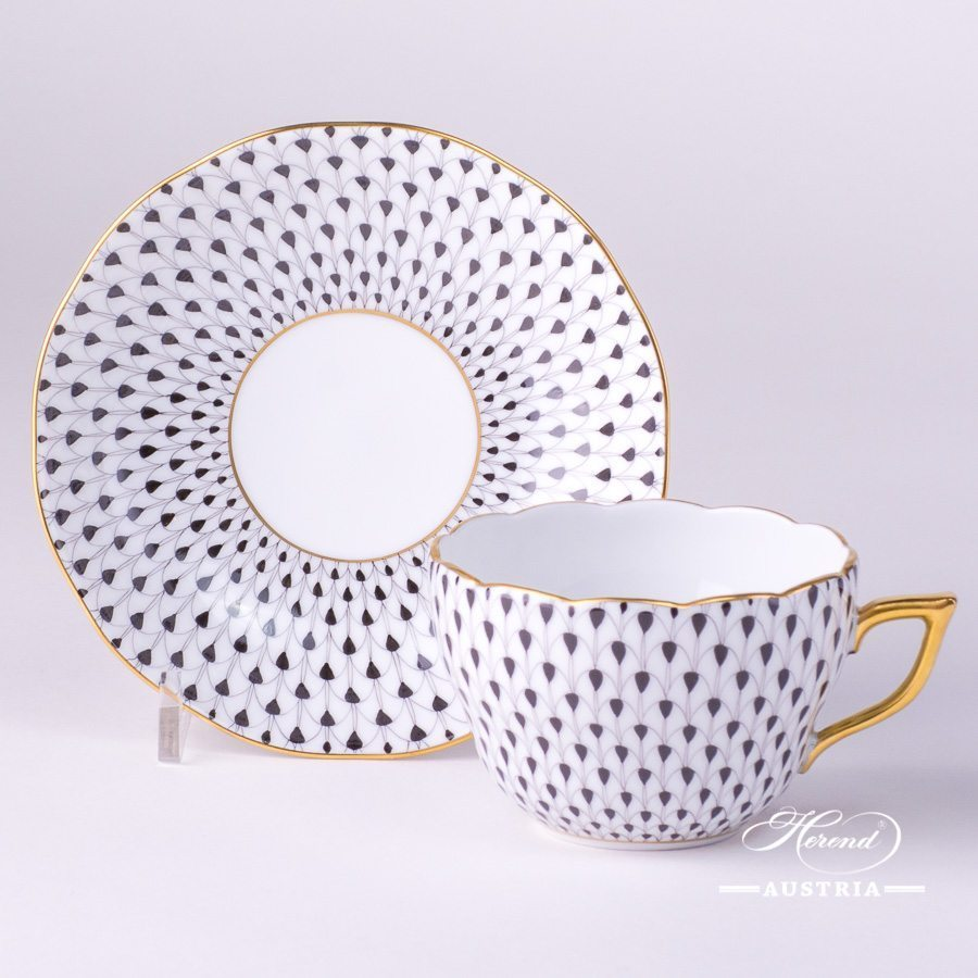 Fish Scale Black - Tea Cup