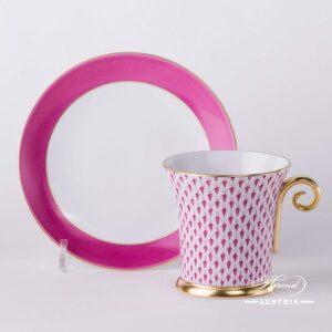 Purple Fish Scale - Tea Cup w. Spiral Handle