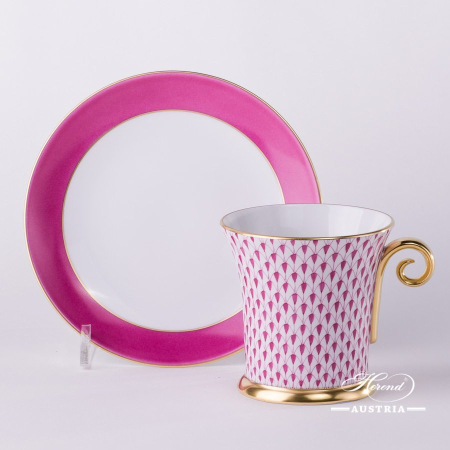Purple Fish Scale - Tea Cup w. Spiral Handle