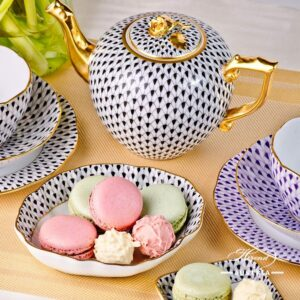 Mixed Fish Scale - Tea Set for 2 Persons