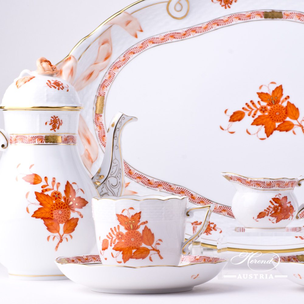 Apponyi / Chinese Bouquet Rust - Coffee Set