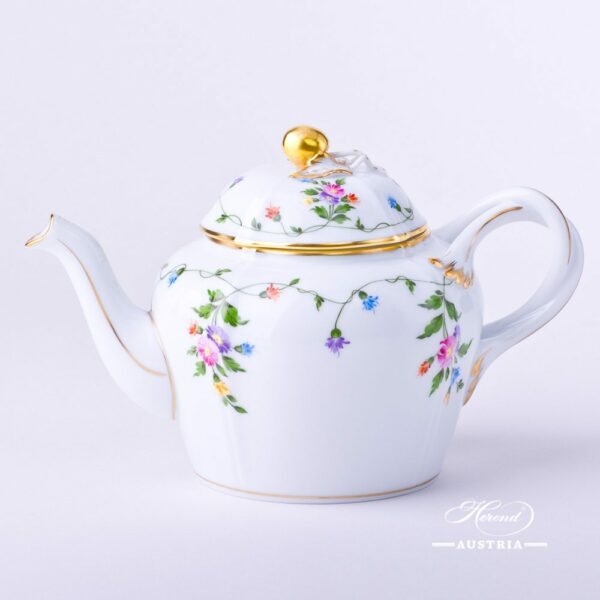 Tea Pot w. Cherry Knob 4243-0-67 IAVT Imola Colored design. Classic Herend design. Herend fine china. Hand painted tableware