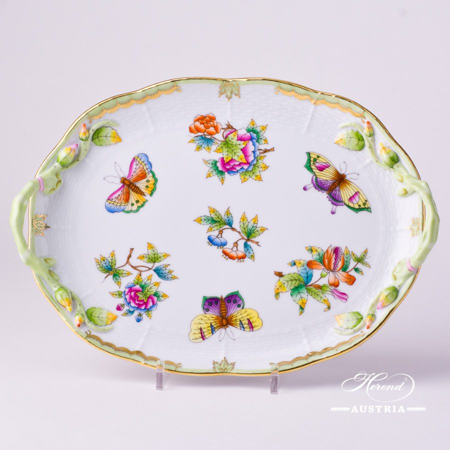 Cake Plate 412-0-00 VBO Queen Victoria pattern. Herend fine chinahand painted. Tableware