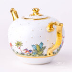 Tea Pot with Twisted Knob 20603-0-06 FODO Oriental Showmen design. Herend fine china. Hand painted tableware