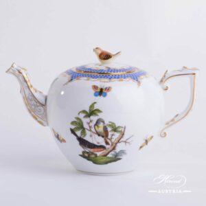 Rothschild Bird Blue Fish Scale - Tea Pot