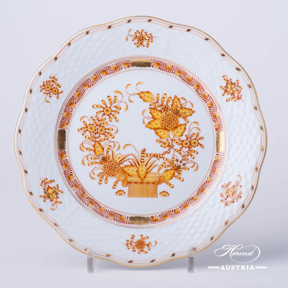 Dessert Plate 517-0-00 FJ Indian Basket Yellow design. Herend fine china. Hand painted tableware