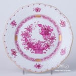 Dessert Plate 517-0-00 FP Indian Basket Purple design. Herend fine china. Hand painted tableware