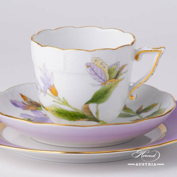 Coffee Mini Set - Herend Royal Garden Green Flower EVICTF1 and CL1 patterns. Herend fine china hand painted. Tableware