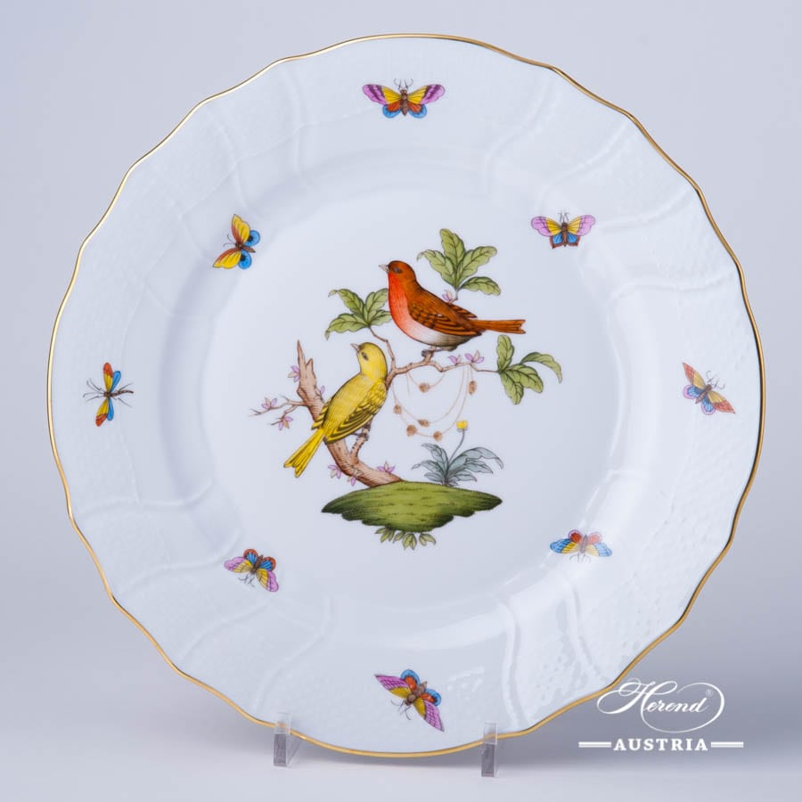 Dinner Plate 1524-0-00 RO Rothschild Bird design. Classic Herend design. Herend fine china. Hand painted tableware