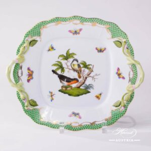 Rothschild Bird Green Fish Scale - Cake Plate