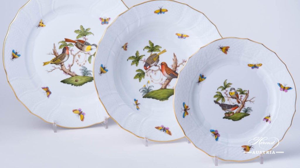 Herend - Rothschild Bird RO motifs #11, #10, #2