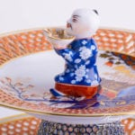Cake Stand 2 Tier 8443-0-21 MRM Miramare pattern. Ornaments Open work. Herend fine china hand painted