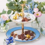 Cake Stand 2 Tier 20308-0-92 GY8 Nyon / Morning Glory pattern. Rich gilded pattern. Herend fine china hand painted. Tableware